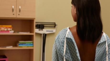 Girl waiting for doctor